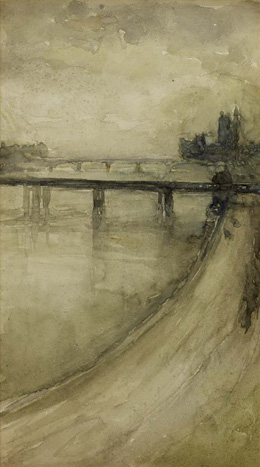 James McNeill Whistler - Westminster from the Savoy, 1896