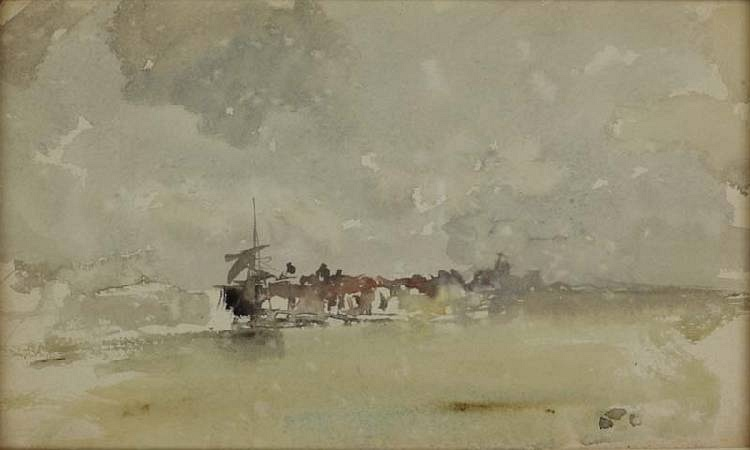 Gold and grey - The Sunny Shower, Dordrecht 1884