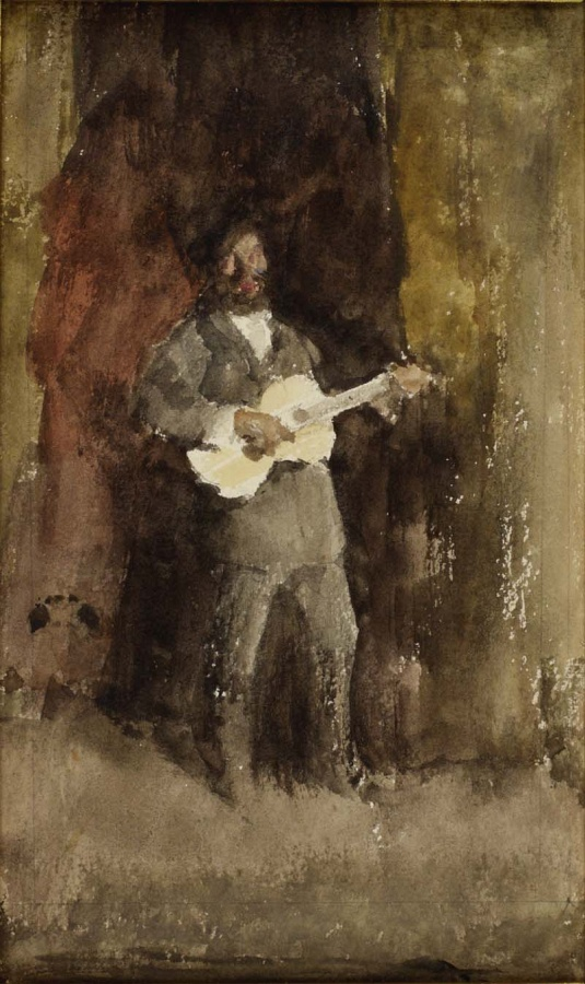 Gold and Brown: The Guitar Player c. 1885